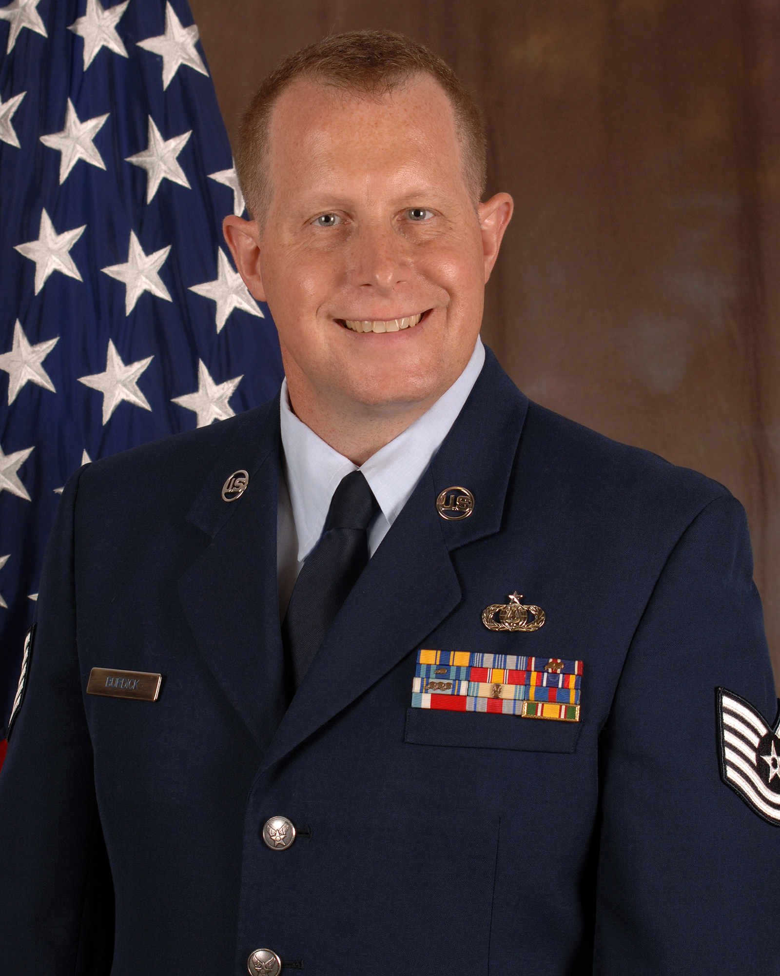 Master Sergeant Steve Burdick, First Sergeant of the Air National Guard Band of the South