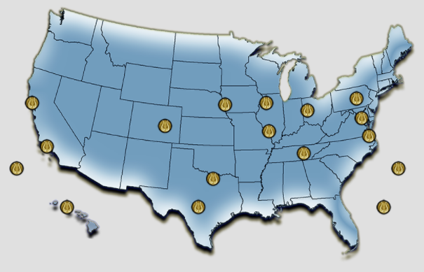 Map of all Air Force Bands